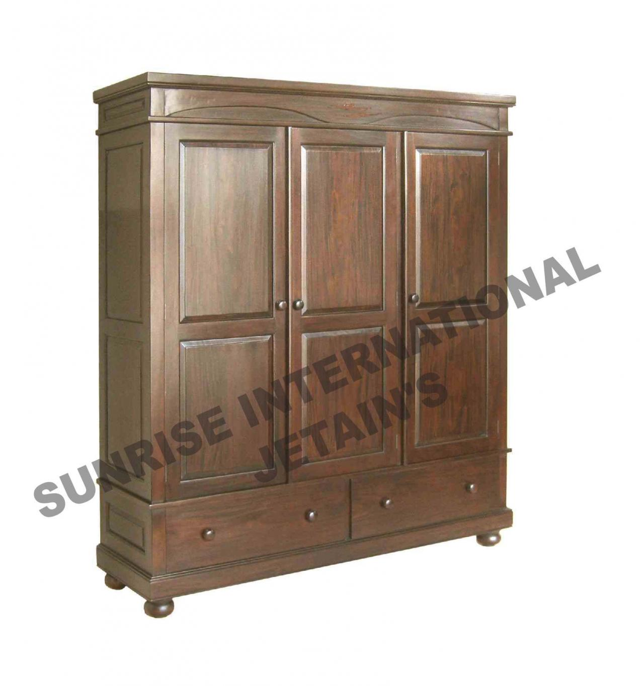 Sunrise international wooden almirah wardrobes for Pics of wooden almirah