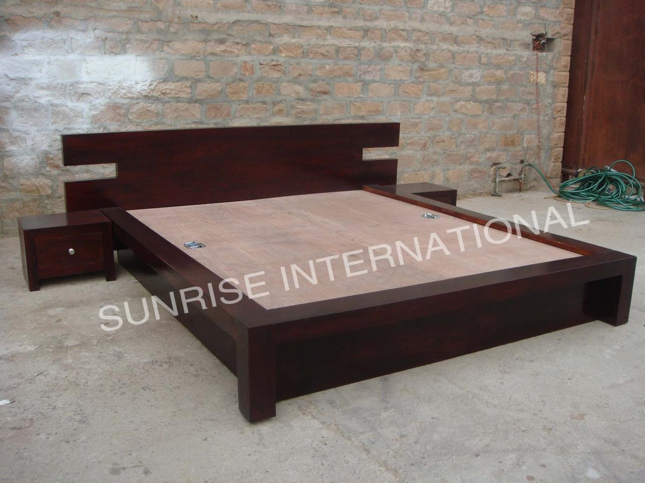 Furniture Manufacturer Solid Sheesham Wood Beds Wooden Bed Online
