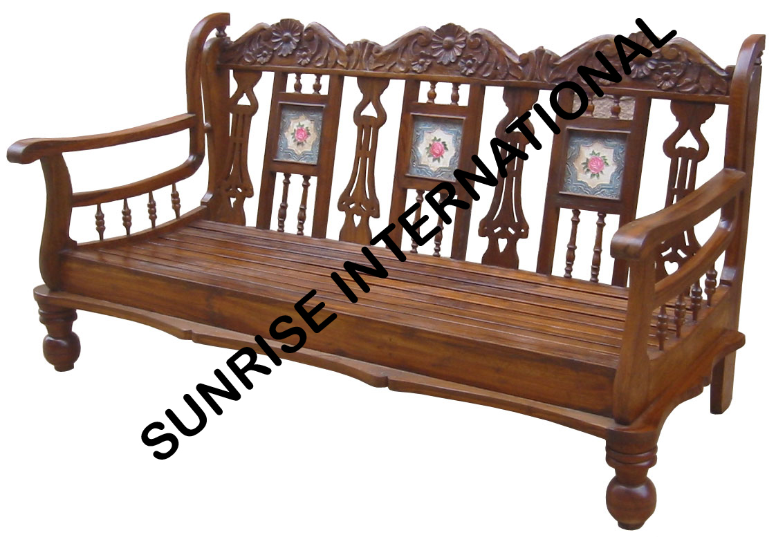 Sunrise International Wooden Sofa Sets L Shade Sofa Set