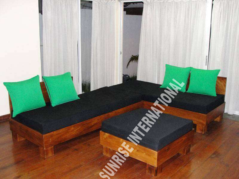 Sunrise international wooden sofa sets l shade sofa set Www wooden furniture com