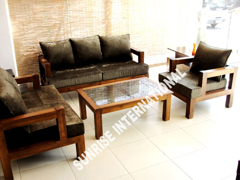 Sunrise international wooden sofa sets l shade set