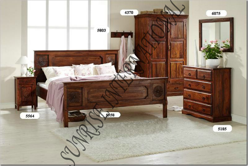 Cherry Wood Bedroom Furniture Setshandmade Natural